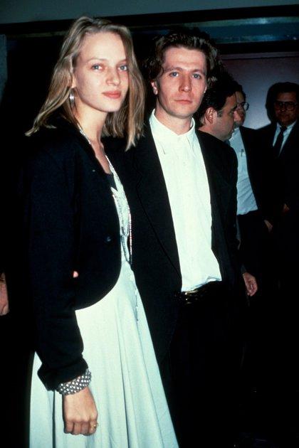 Uma Thurman estuvo casada con el actor Gary Oldman, entre 1990 y 1992 (Getty Images)