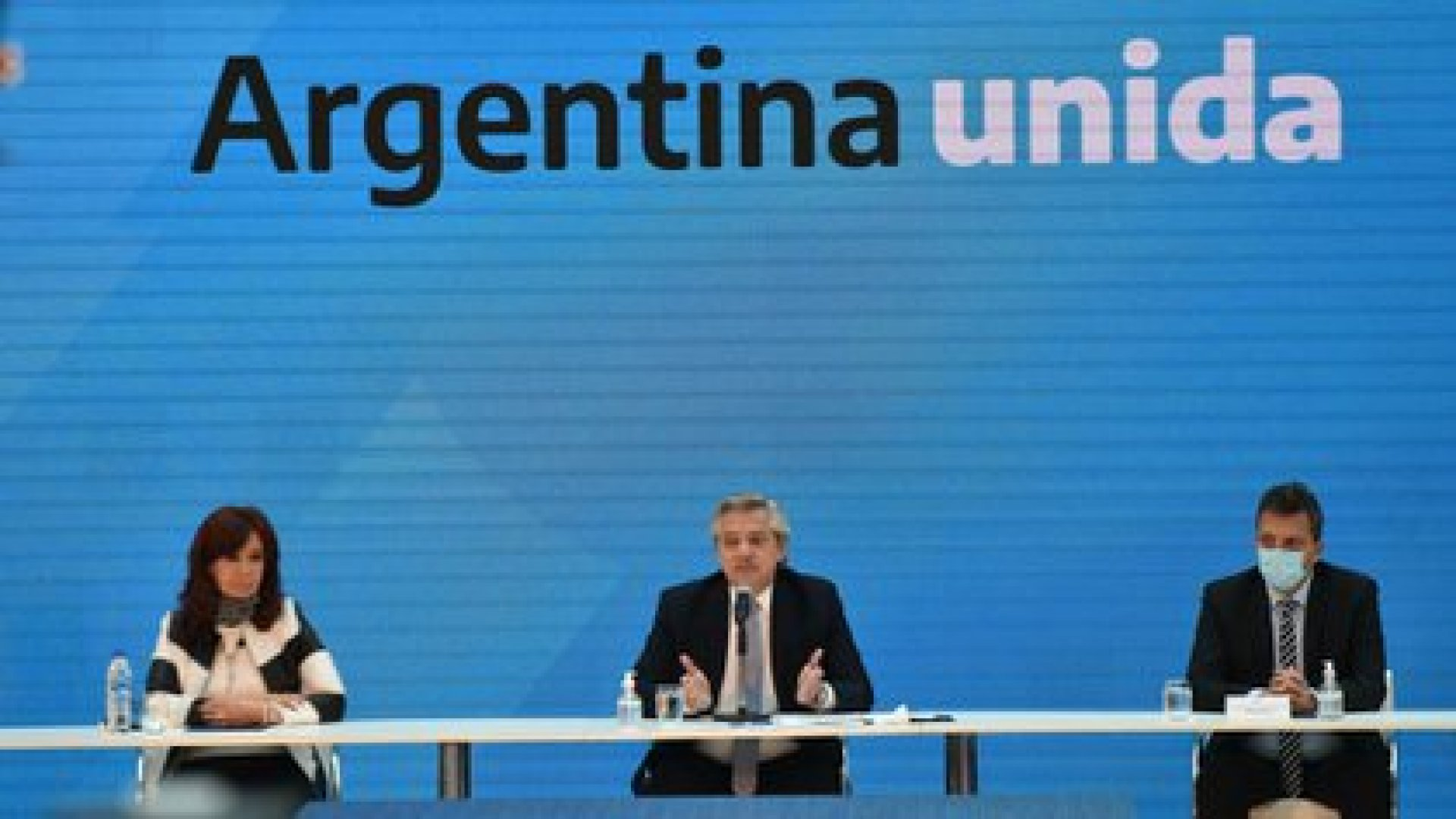 Cristina Kirchner, Sergio Massa y Alberto Fernández (Franco Fafasuli)