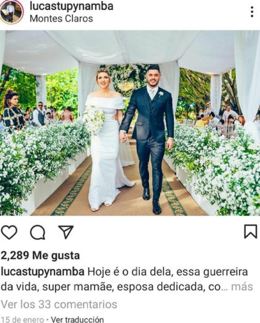La tiktoker contrajo matrimonio en diciembre en 2020 con el médico especializado en deporte y ejercitamiento físico, Lucas Tupynamba (Foto: Instagram/ @lucastupynamba)