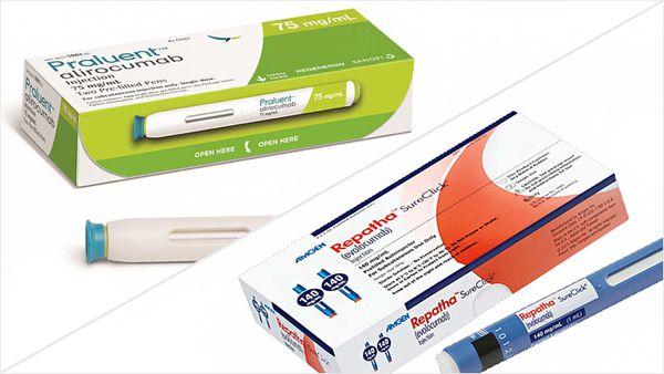 Evolocumab se comercializa con la marca Repatha; una droga de acción similar se vende como Praluent.