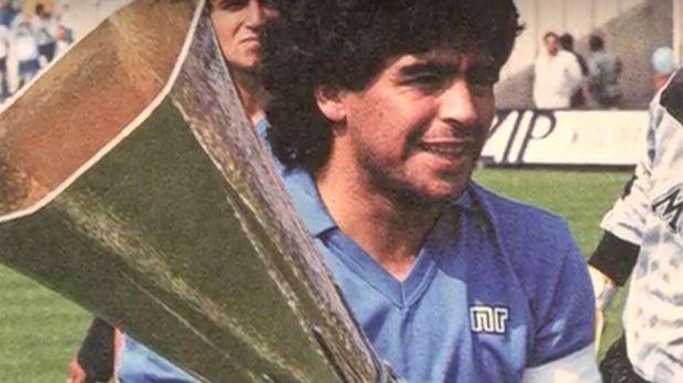 Maradona con Copa UEFA 89