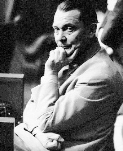 Hermann Göring durante los juicios de Nurenberg