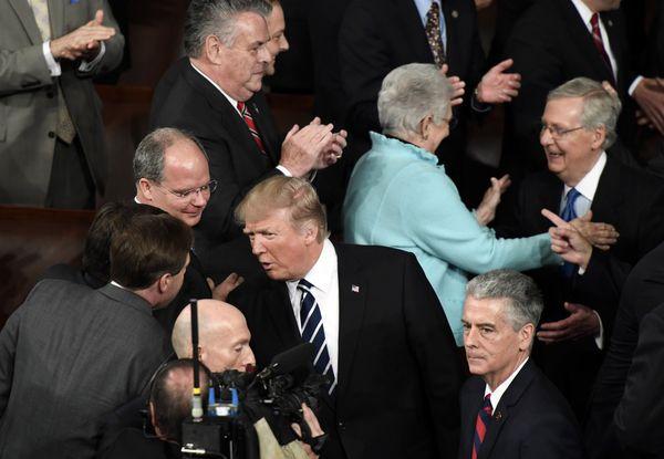 El presidente Donald Trump durante su arribo al Congreso (Foto: Washington Post, Melina Mara)