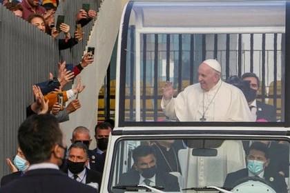 El papa Francisco durante su última gira internacional en Irak (Reuters)