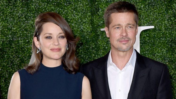 Brad Pitt y Marion Cotillard (AP)