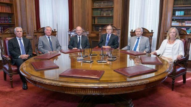 Los jueces de la Suprema Corte de Justicia de Buenos Aires