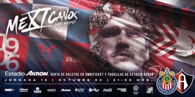 De esta manera, Chivas promocionó el partido contra Atlas (Twitter/@Chivas)