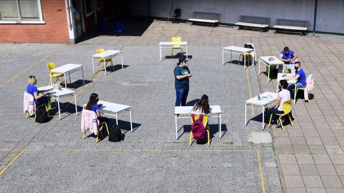 reinicio de clases en caba covid escuela tecnica 35 y 27 montecastro