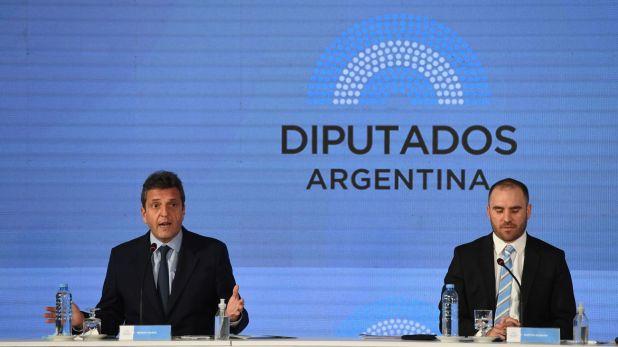 El ministro Guzmán presenta el Presupuesto 2021 en Diputados - Sergio Massa