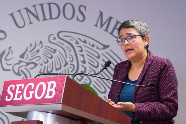 Karla Quintana Osuna, comisionada nacional de Búsqueda de Personas, explicó el funcionamiento de la nueva plataforma web. (Foto: GALO CAÑAS /CUARTOSCURO)