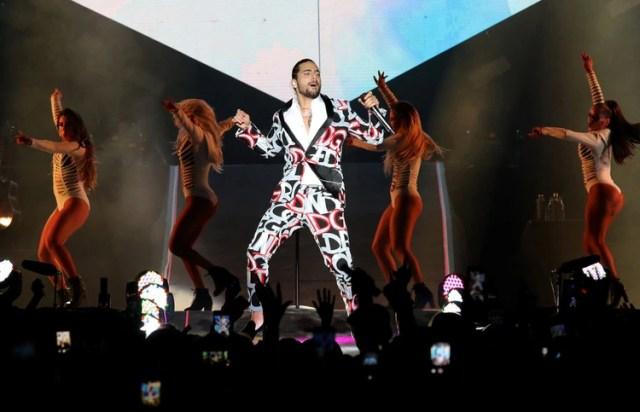 Maluma, en un show en el Hipódromo de Palermo (Christian Bochichio)