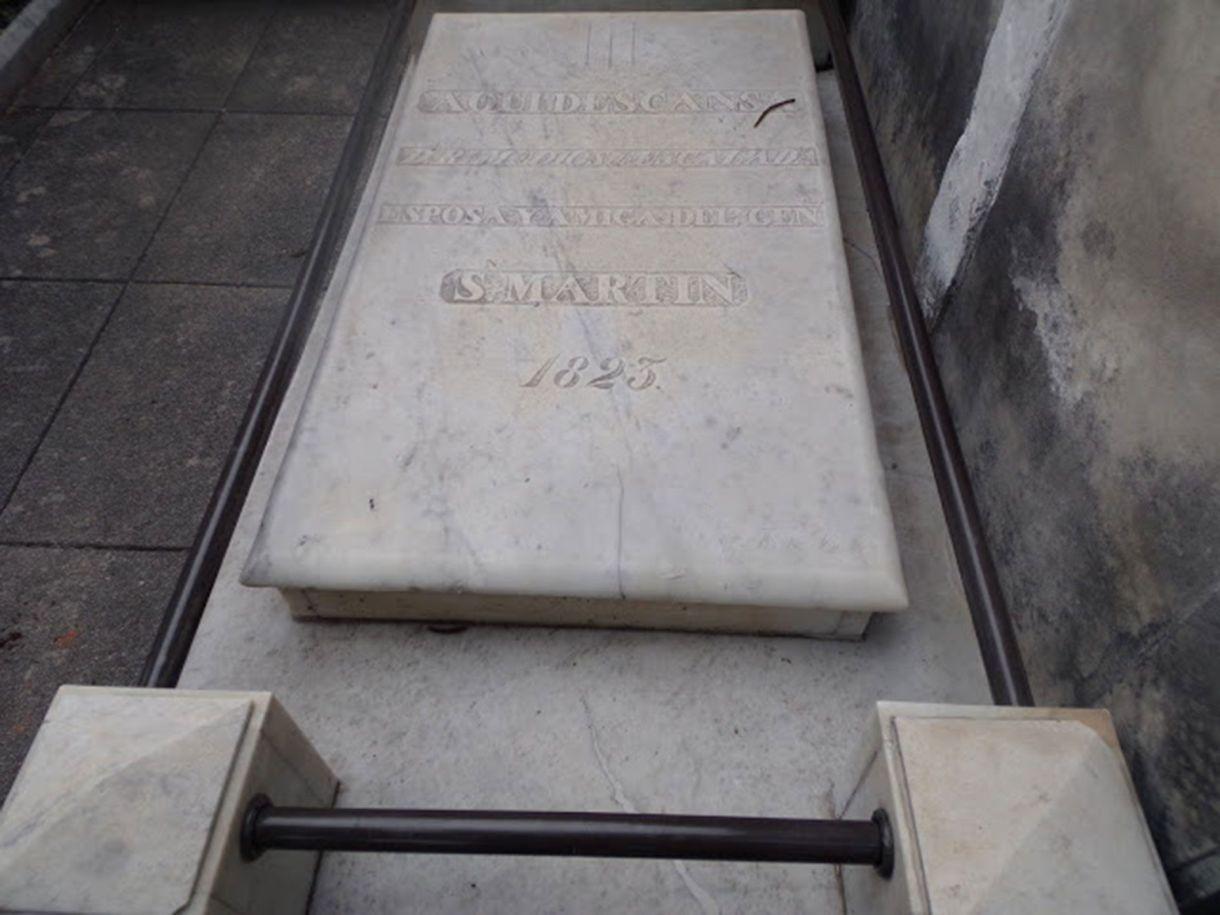La tumba de Remedios de Escalada se encuentra en el Cementerio de la Recoleta