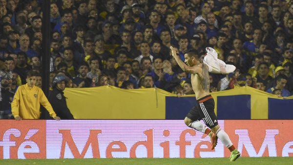 Driussi marcó el gol del 3-1 para la victoria de River en el Superclásico (AFP)