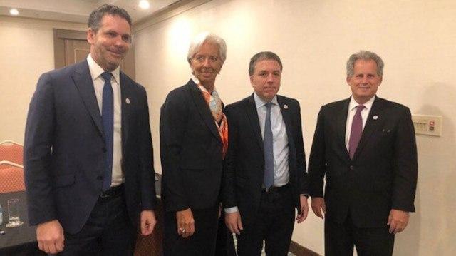 Sandleris, Lagarde, Dujovne y Lipton en la reunión de ministros de Finanzas del G20 de Japón