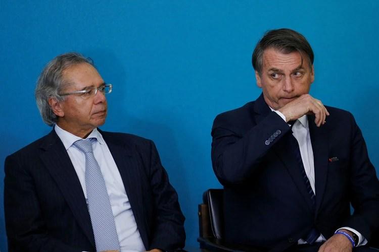 El Presidente de Brasil, Jair Bolsonaro, y el Ministro de Economía, Paulo Guedes (Reuters)