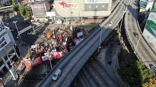 Desde temprano estuvieron bloqueados los accesos a la ciudad de Buenos Aires