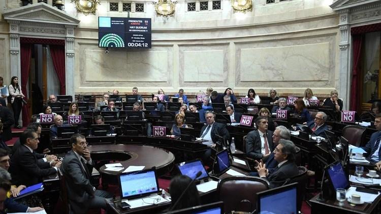 La sesión del miércoles en el Senado