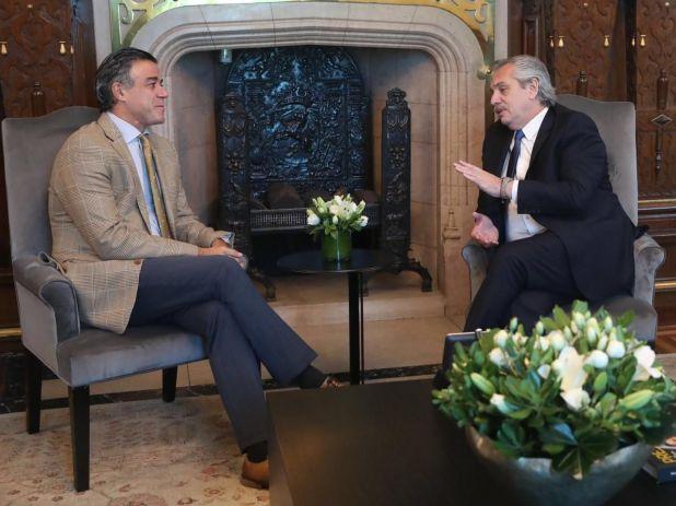 El Presidente junto a Daniel Rafecas, su candidato como jefe de los fiscales