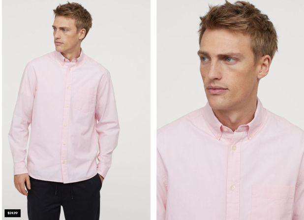 La camisa regular fit en Estados Unidos vale 24.99 dólares, unos $1087 (Hm.com)