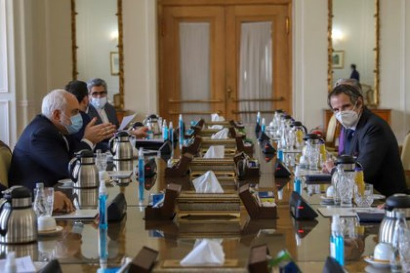 Rafael Grossi, director general de la OIEA, viajó a Teherán para reunirse con las autoridades del régimen persa (Majid Asgaripour/WANA via REUTERS)