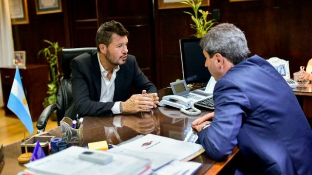 El mandatario recibió a Marcelo Tinelli en la casa de gobierno de San Juan