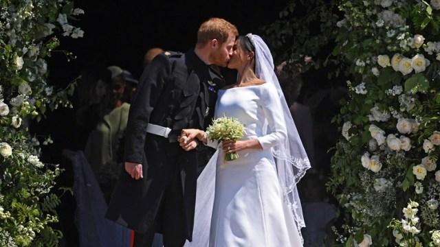Meghan Markle y Harry se casaron el 19 de mayo de 2018 (Foto: EFE)
