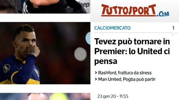 La publicación del medio italiano Tuttosport se replicó en Inglaterra y las redes sociales
