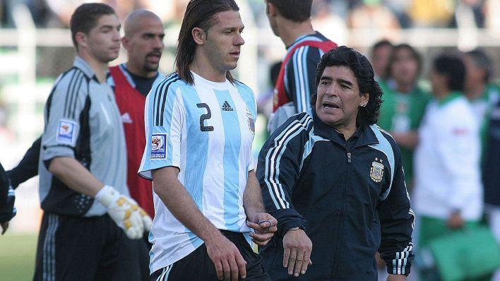 Maradona, técnico de la selección argentina en el histórico 6-1 de Bolivia (Foto Baires)