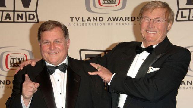 Adam West y Burt Ward,en unas de las últimos fotos juntos (Getty Images)
