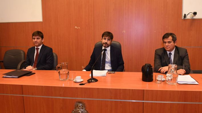 Los jueces del Tribunal Oral Federal 3. (Maximiliano Luna)