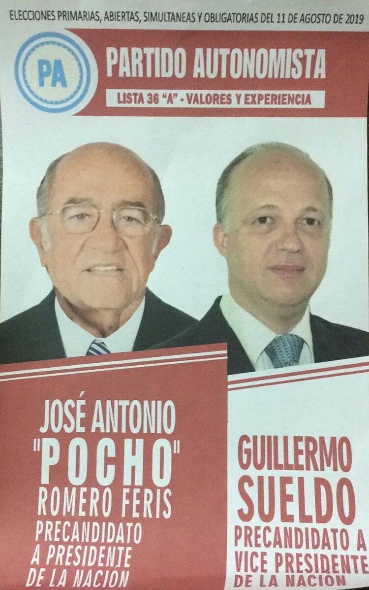 José Antonio 'Pocho' Romero Feris y Guillermo Sueldo – Partido Autonomista
