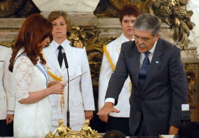Julio de Vido prestando juramento en 2007 (NA)