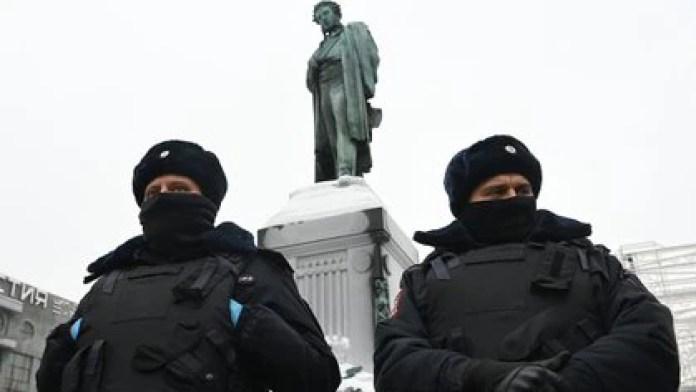 Russian policemen.  Photo of the file.  Kirill KUDRYAVTSEV / AFP