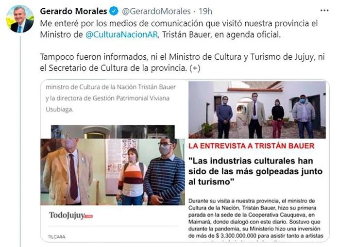 Tuits Gerardo Morales