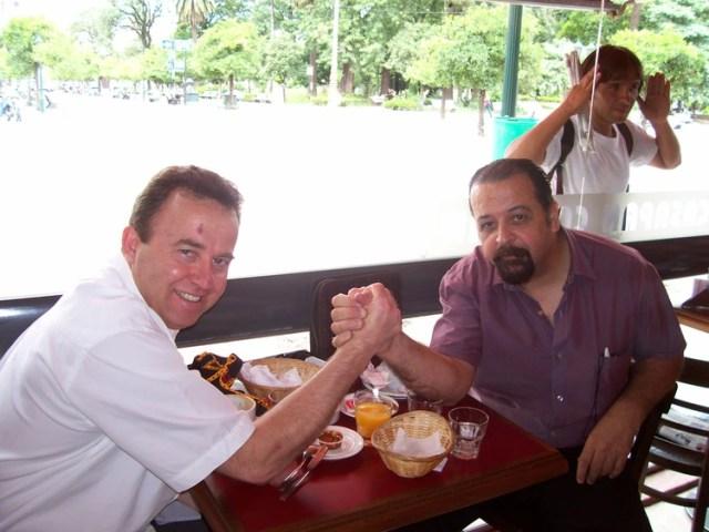 El encuentro de Roberto Baruzzo y Jorge Echeverría