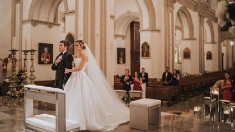 Religious wedding of Samuel García with Mariana Rodríguez (Social networks)