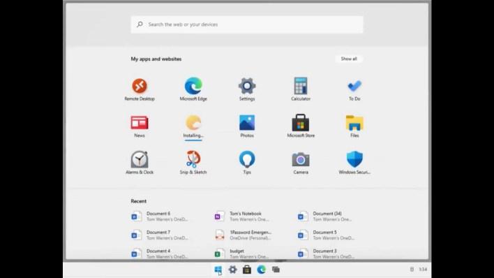 Imágenes de la interfaz de Windows 10X