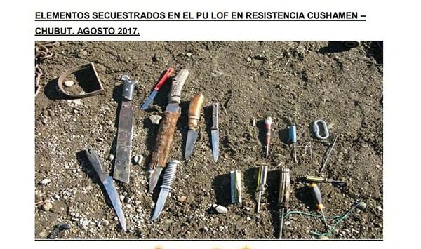 Imagenes que ilustran el informe del Ministerio de Seguridad.