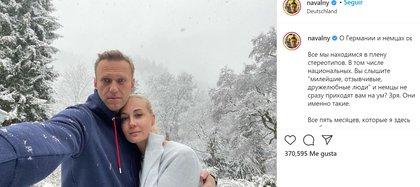 Navalny agradeció a los alemanes por la atención recibida