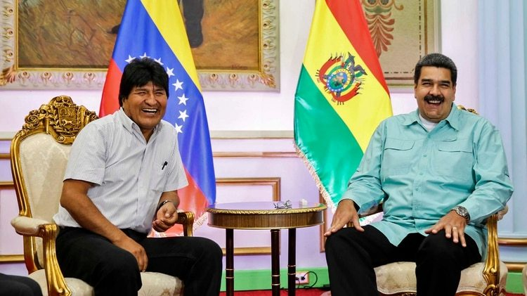 Evo Morales respalda al chavista e, incluso, participó de su campaña (AFP)
