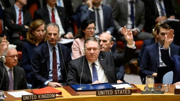 Mike Pompeo, secretario de Estado de EEUU (Photo by Johannes EISELE / AFP)
