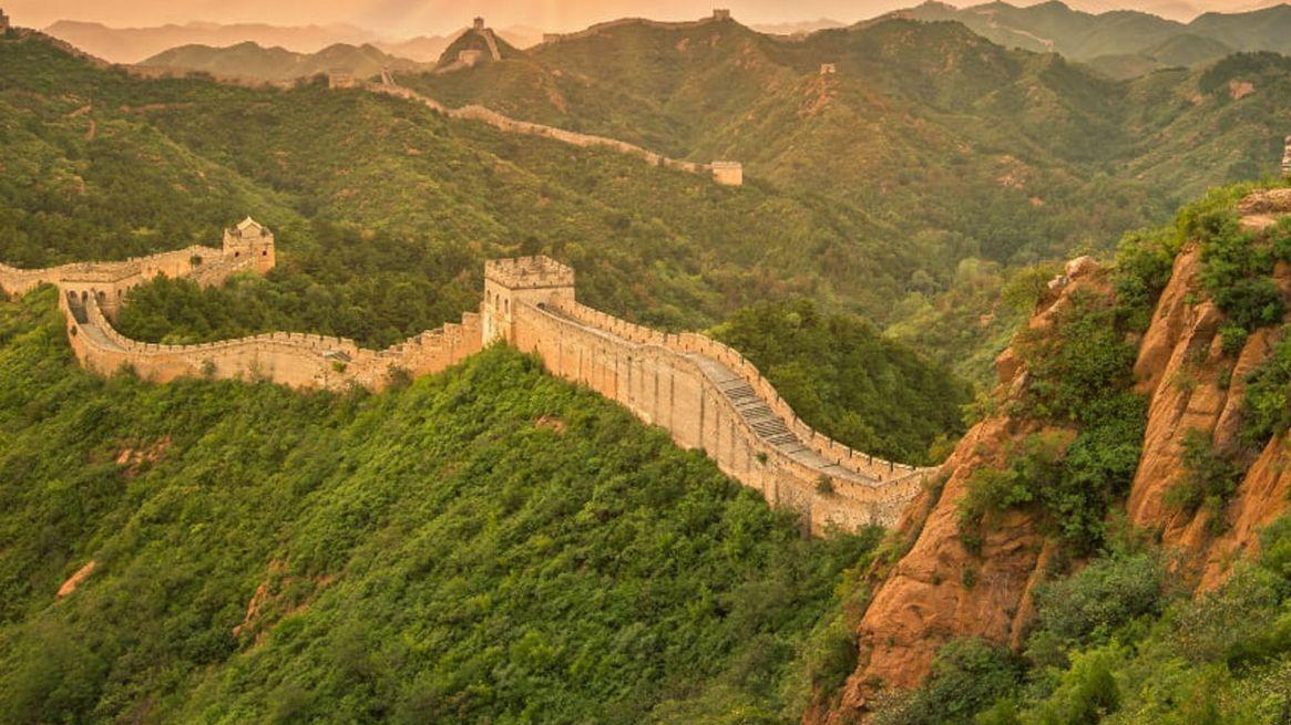 La Gran Muralla, tal vez la fortificación más famosa. Foto: AFP.