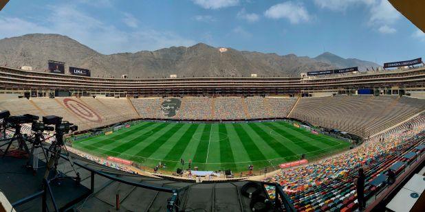 Vista panorámica del estadio Monumental en Lima (Perú). EFE/Antonio Lacerda/Archivo