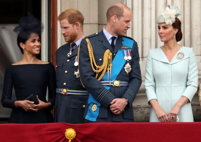 Los duques de Sussex y de Cambridge toman caminos separados. REUTERS/Chris Radburn