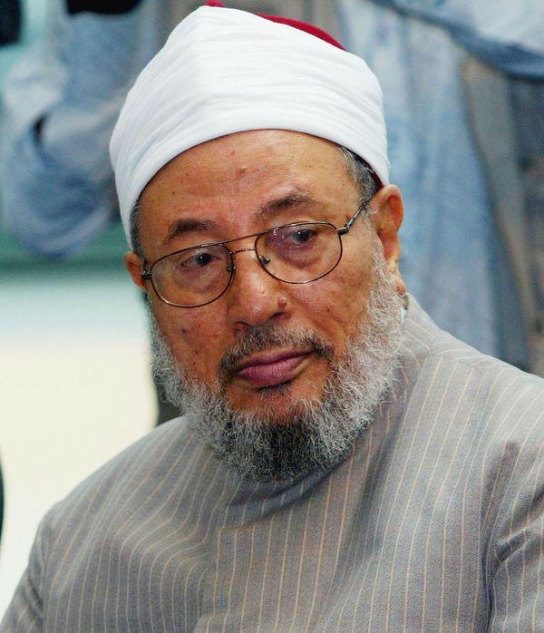 Yusuf al-Qaradawi, ideólogo de los Hermanos Musulmanes asiladoen Qatar (Getty)