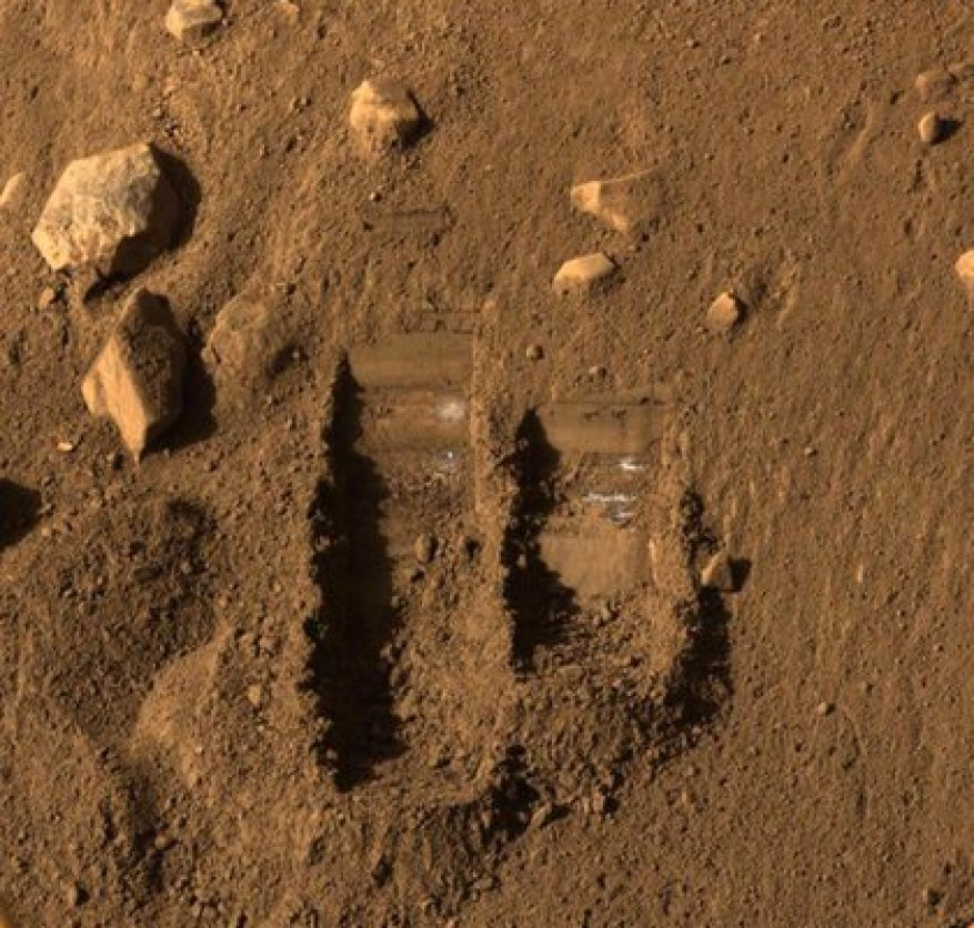 A footprint on Mars