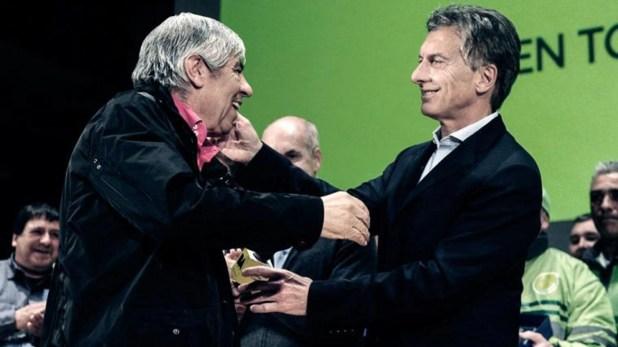Macri y Moyano se fueron distanciando durante el gobierno de Cambiemos (Télam)