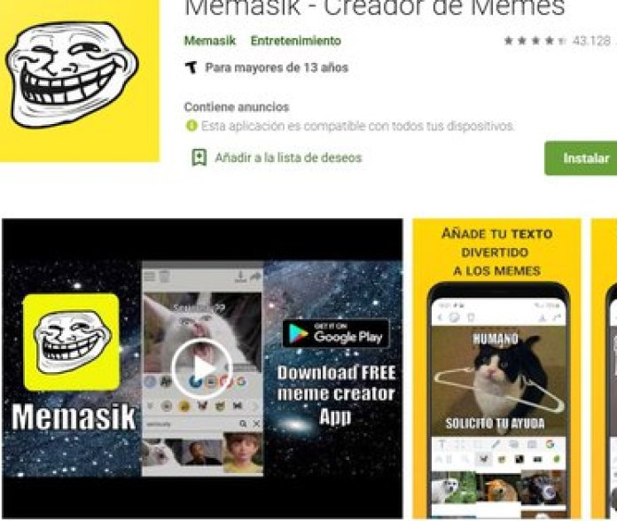 Memasik ofrece facilidades para sumar stickers y editar textos