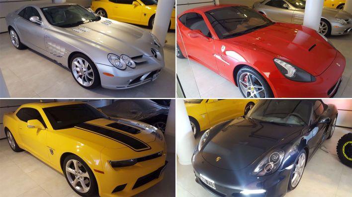 Los autos de lujo del sindicalista Marcelo Balcedo