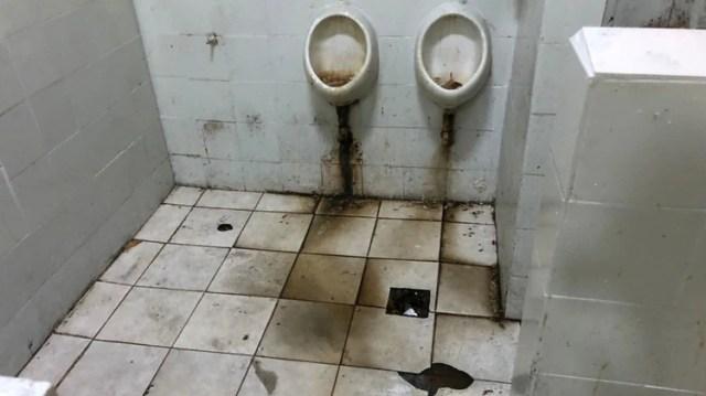Los baños de Unidad 28 (Foto: Procuración Penitenciaria de la Nación)